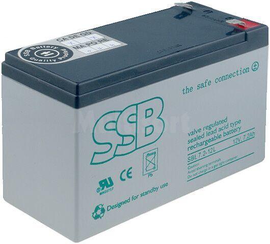 Akumulator kwasowo-ołowiowy SSB 12V 7,2Ah żywotność 10-12 lat