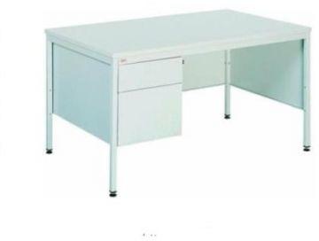 Metalowe biurko medyczne BIM 032 z 2 szufladami