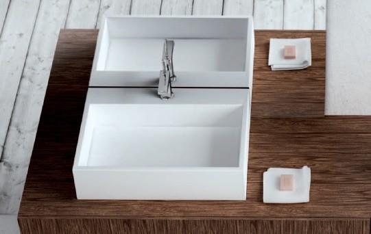 Marmorin umywalka nablatowa Modico bez otworu 60cm biała 350060020010 __DARMOWA DOSTAWA__