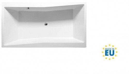 Wanna 180x100x49cm biała akrylowa do zabudowy made in UE, QUEST