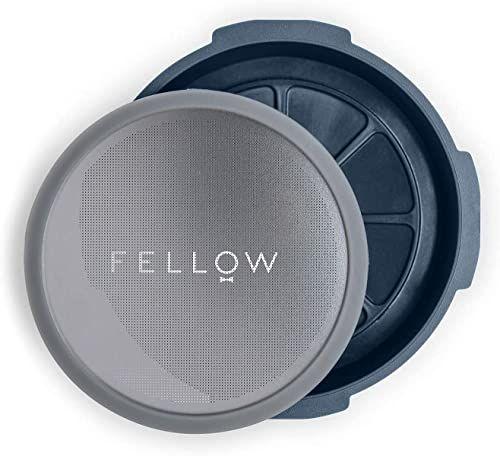 Fellow Filtr wielokrotnego użytku i akcesoria obsługiwane ciśnieniowo do ekspresu do kawy Aeropress, ze stylem espresso, zanurzenie bez kapania i zimnym przygotowywanie w domu kamień niebieski