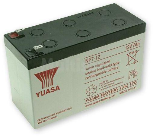 Akumulator kwasowo-ołowiowy YUASA 12V 7Ah żywotność 3-5 lat