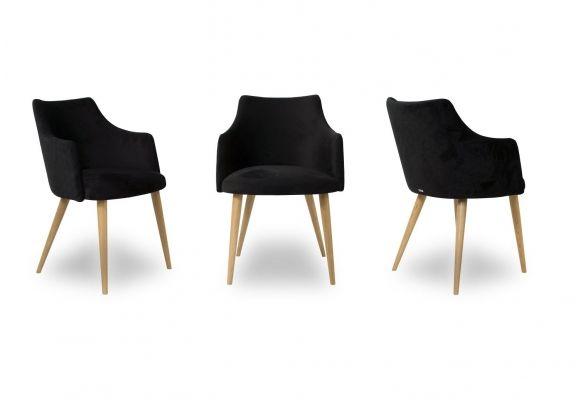 Krzesło glam nogi dębowe różne kolory