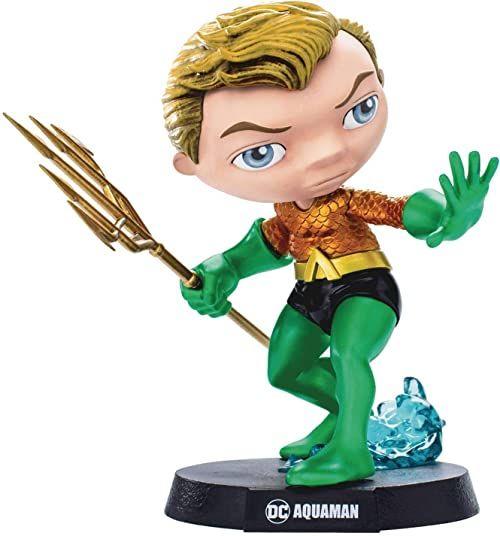 MINI CO HEROES DC COMICS AQUAMAN VINYL STATUE