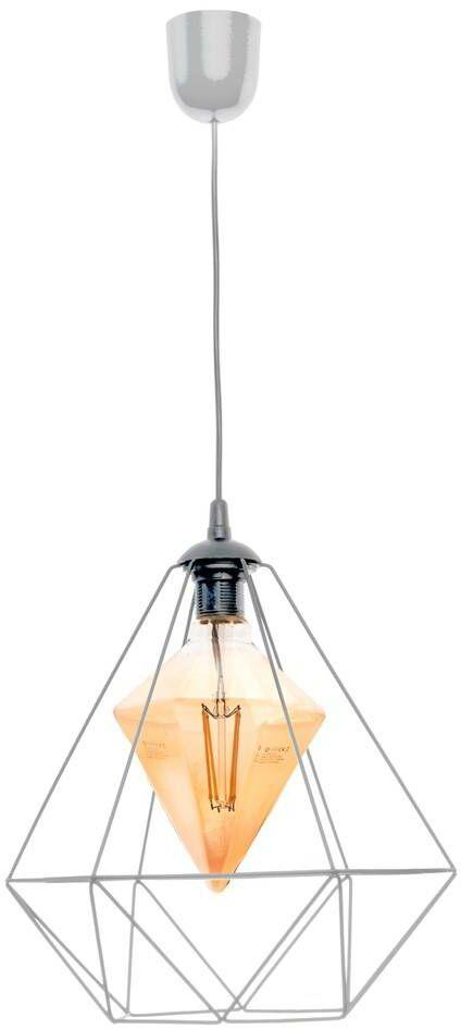 Lampa wisząca ALAMBRE GREY 1xE27 4W żarówka w zestawie