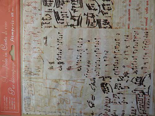 Stamperia Papier ryżowy nuty 50 x 50 cm