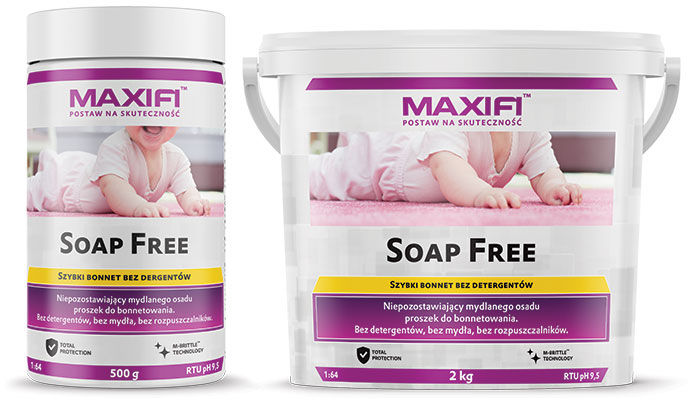 Maxifi Soap Free do prania tapicerek dla alergików i dzieci