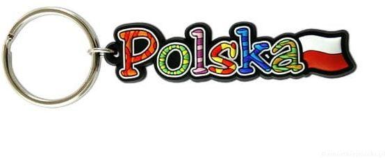 Brelok gumowy napis Polska