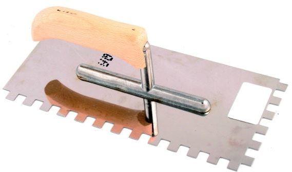 Paca nierdzewna z drewnianym uchwytem 270mm gładka