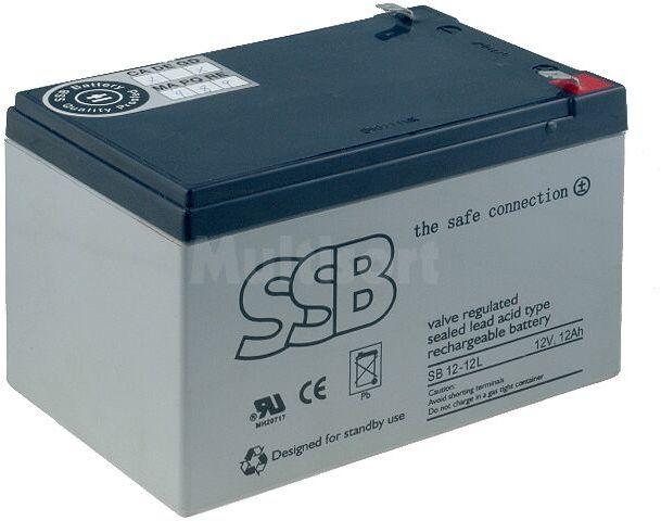 Akumulator kwasowo-ołowiowy SSB 12V 12Ah żywotność 10-12 lat