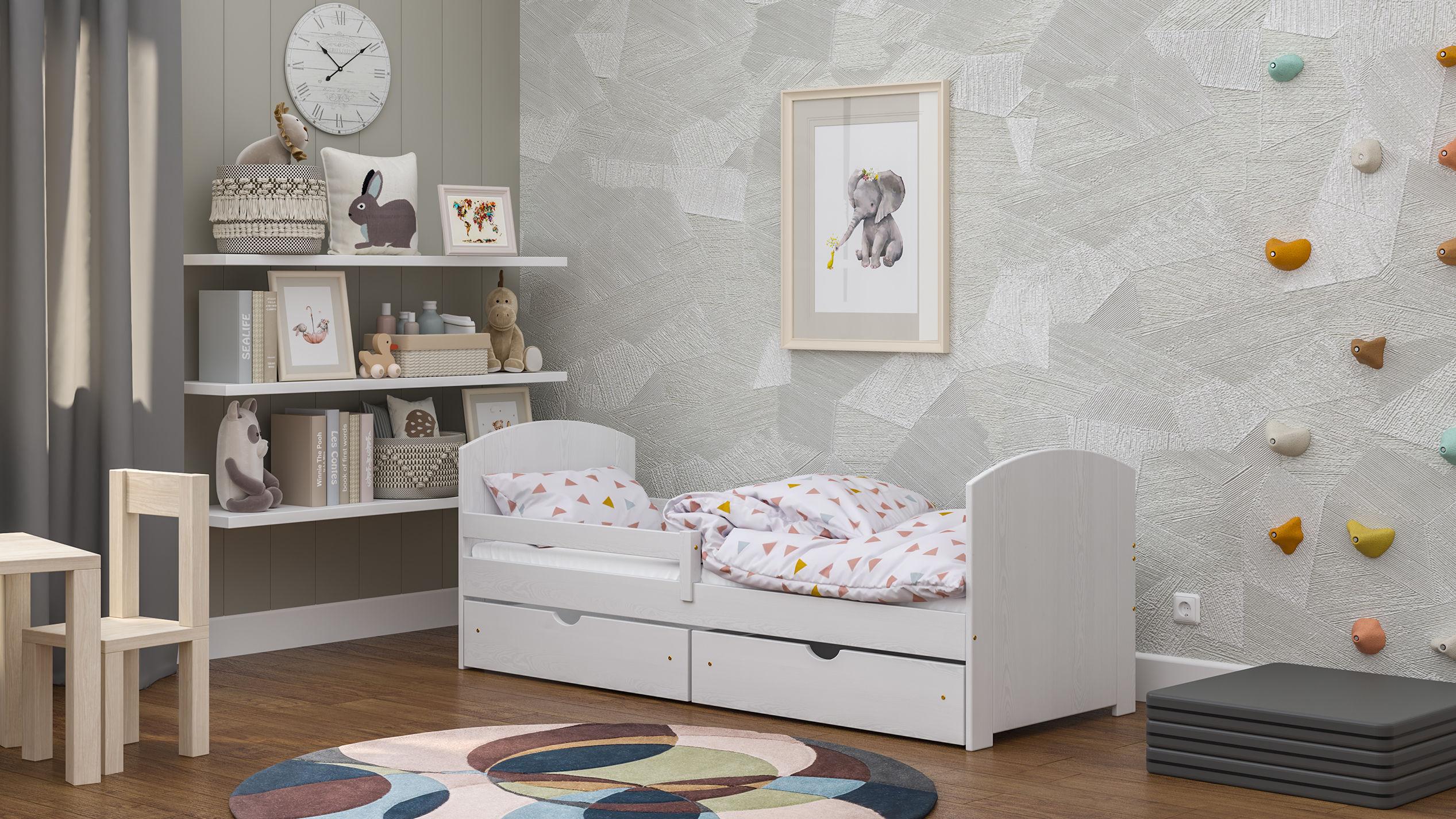 Łóżko dla dzieci pojedyncze Casa B