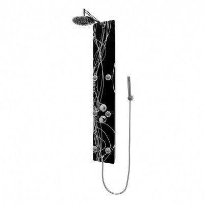 Novoterm Kerra Panel natryskowy CLEO aluminium + szkło 150x25 cm