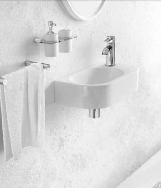 Marmorin umywalka nablatowa Elara 2 z otworem 40cm biała 400040020011 __DARMOWA DOSTAWA__