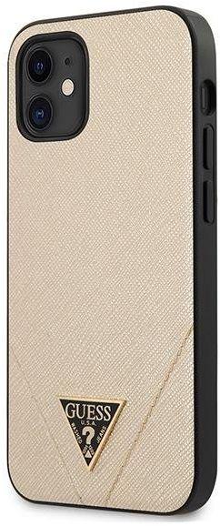 "Guess GUHCP12SVSATMLLG iPhone 12 5,4"" złoty/light gold hardcase Saffiano Guess / GUE000831"