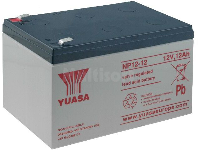 Akumulator kwasowo-ołowiowy YUASA 12V 12Ah żywotność 3-5 lat