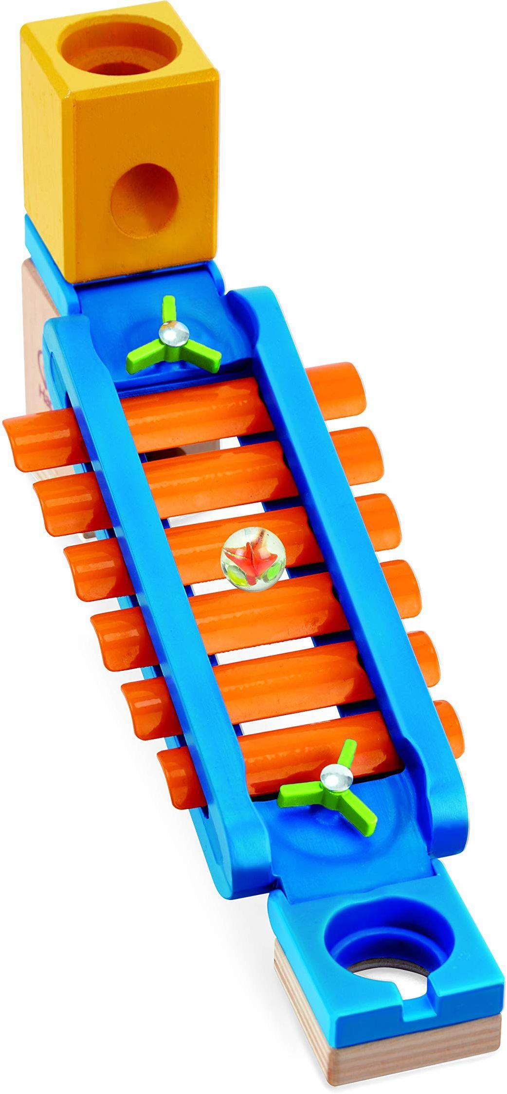 Hape E6022 Quadrilla Sonic Plac zabaw, drewniane marmurowe akcesoria do biegania - edukacyjne zabawki budowlane dla dzieci od 4 lat