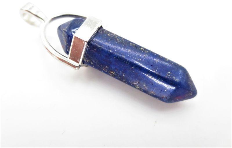 Lapis lazuli szlifowany (wisior w oprawie) 01