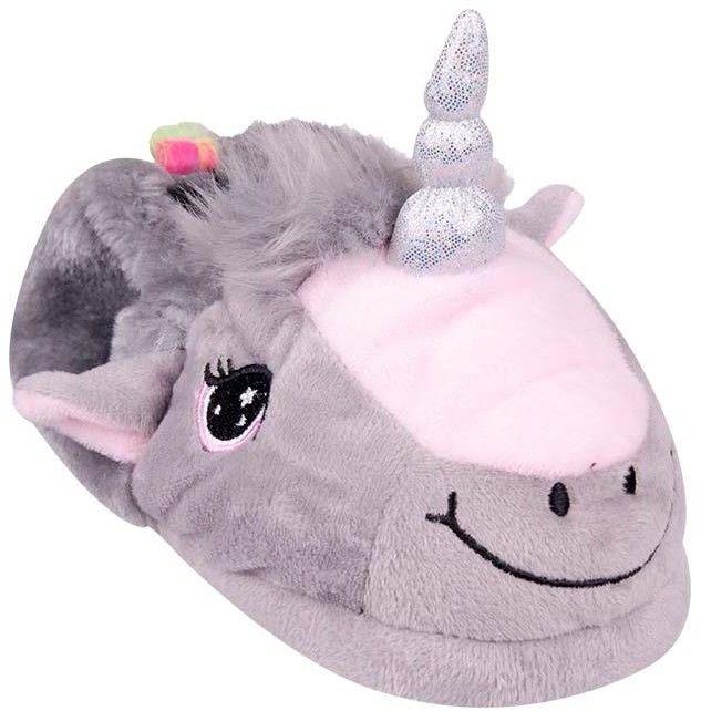 Kapcie unicorn szare