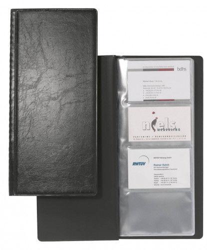 Wizytownik książkowy VISIFIX na 128 wizytówek czarny 2308 01