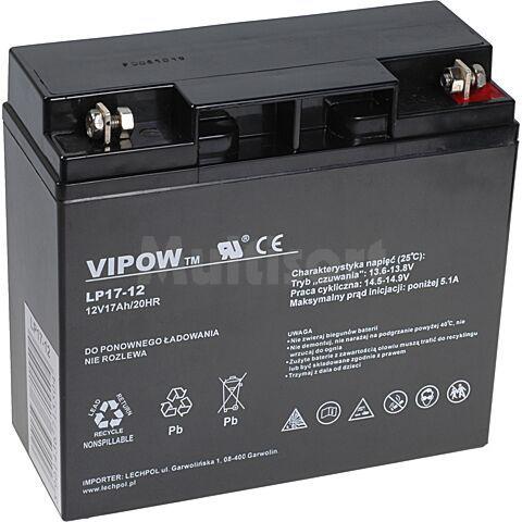 Akumulator kwasowo-ołowiowy VIPOW 12V 17Ah żywotność 5 lat