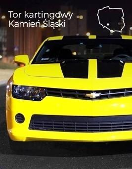 Jazda za kierownicą Chevroleta Camaro  Tor kartingowy Kamień Śląski
