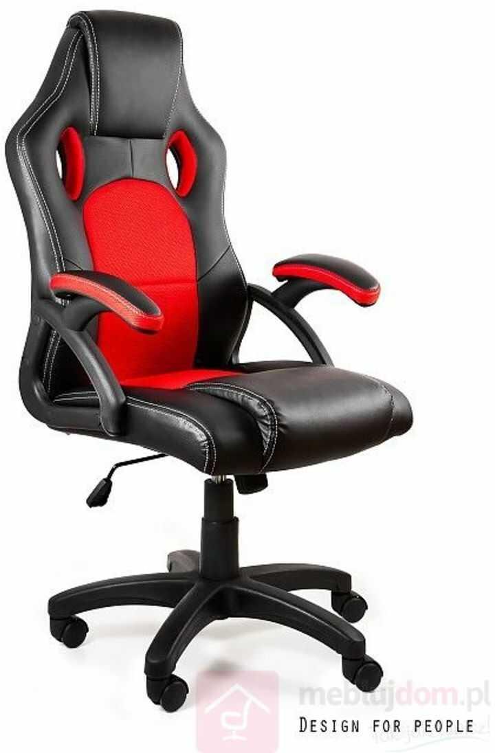 Fotel gamingowy DYNAMIQ V7 Unique Czarno-czerwony  Zapytaj o RABAT!   [Wysyłka 2021-09-02]