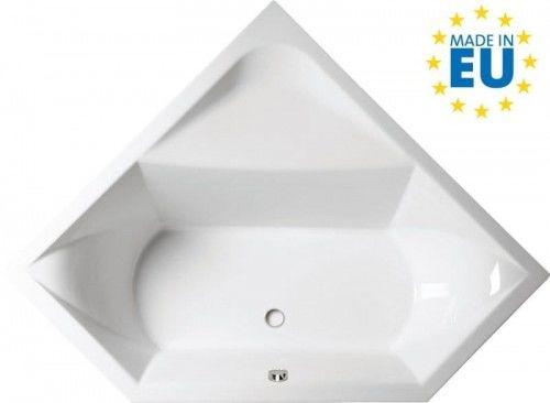 Wanna narożna 145x145x50cm, biała, akrylowa, MADE IN UE, FLOSS
