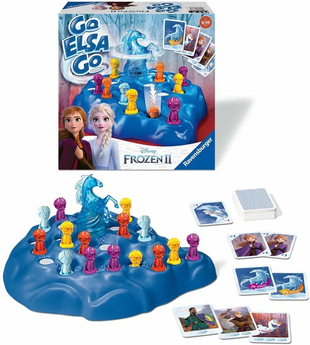 Ravensburger 20425  Disney Frozen 2 Go Elsa Go, klasyka w designie dla 2  4 graczy, dziecinnie prosta zabawa od 4 lat, królowa lodu 2