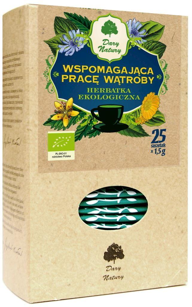 Herbatka wspomagająca pracę wątroby bio (25 x 1,5 g) - dary natury
