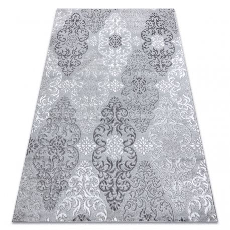 Dywan MEFE nowoczesny 8734 Ornament - Strukturalny, dwa poziomy runa szary 80x150 cm