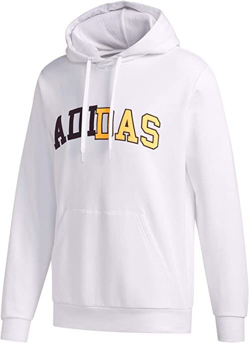 adidas Męska koszulka COLLEGIATE HDY z długim rękawem, biała, L