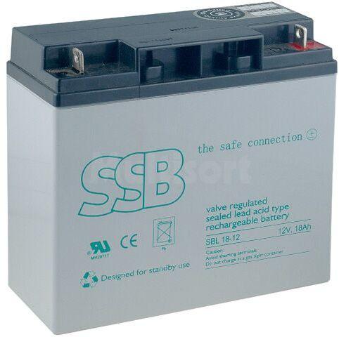 Akumulator kwasowo-ołowiowy SSB 12V 18Ah żywotność 10-12 lat