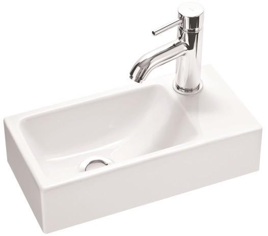 Marmorin umywalka nablatowa Elara 3 z otworem 40cm biała 410040020011 __DARMOWA DOSTAWA__