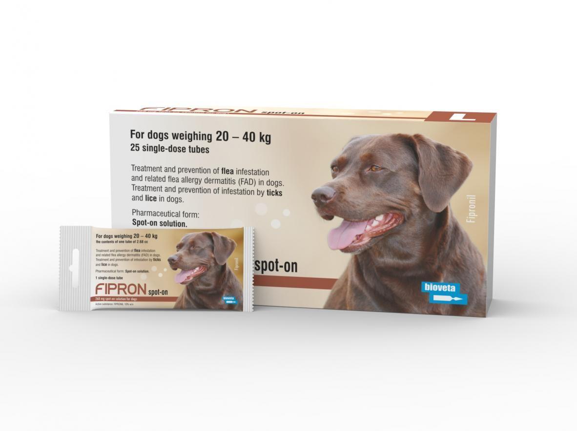 Fipron 1 pipeta 268 mg psy 20-40 kg