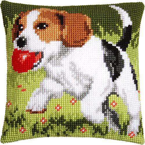 Poduszka Vervaco: Beagle, akryl, wielokolorowa, 20 x 1 x 25 cm