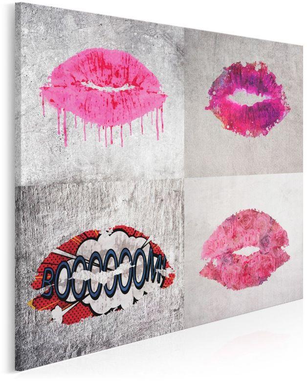 Oblicza miłości - nowoczesny obraz na płótnie - 80x80 cm