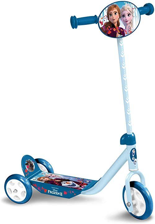 STAMP RN244050 Frozen II Anna, Elsa hulajnoga z 3 kółkami, niebieska