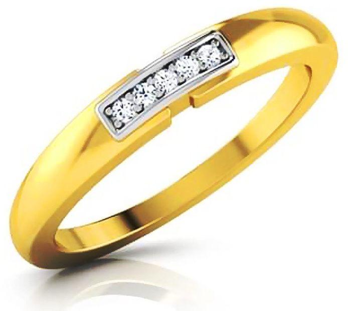 Złoty Pierścionek Obrączka z Brylantami
