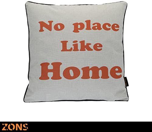 Napis Poduszka pomarańczowa 6 wzorów 45 x 45 cm + wypełnienie 450 g (Home2)