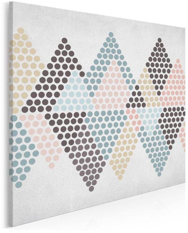 U szczytu szczęścia - nowoczesny obraz na płótnie - 80x80 cm