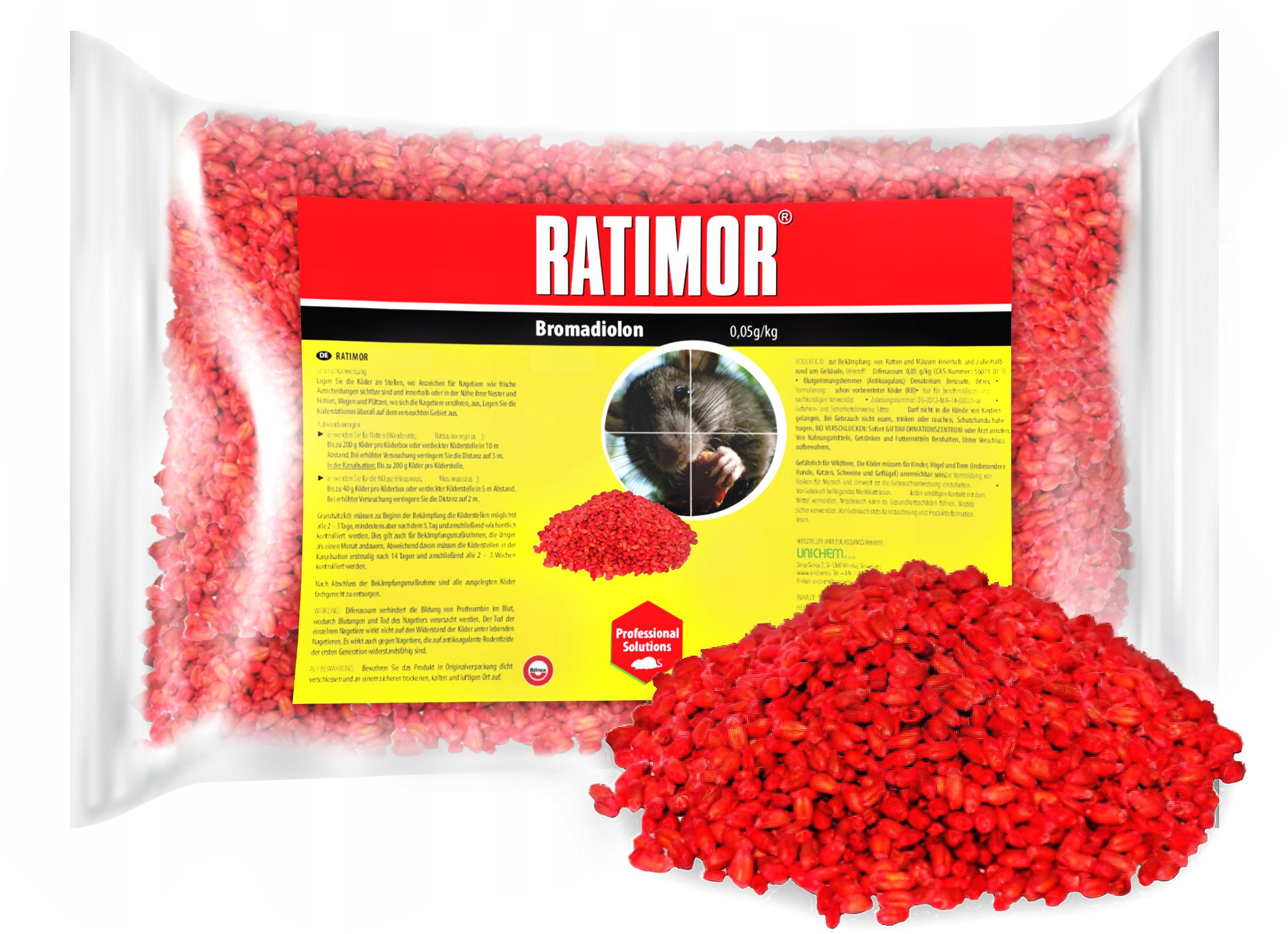 1kg Trutka na szczury, trutka na myszy. Ratimor - trutka zbożowa, zatrute ziarno.