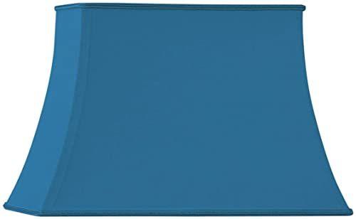 Klosz lampy w kształcie pagody, prostokątny, 45 x 32/29 x 21/32 cm, jasnoniebieski
