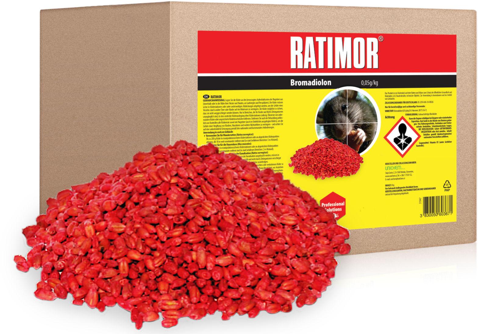 10kg Trutka na szczury, trutka na myszy. Ratimor - trutka zbożowa, zatrute ziarno.