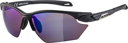 ALPINA Unisex - Dorośli, TWIST FIVE S HR Q-LITE Okulary sportowe, black matt/blue, One Size