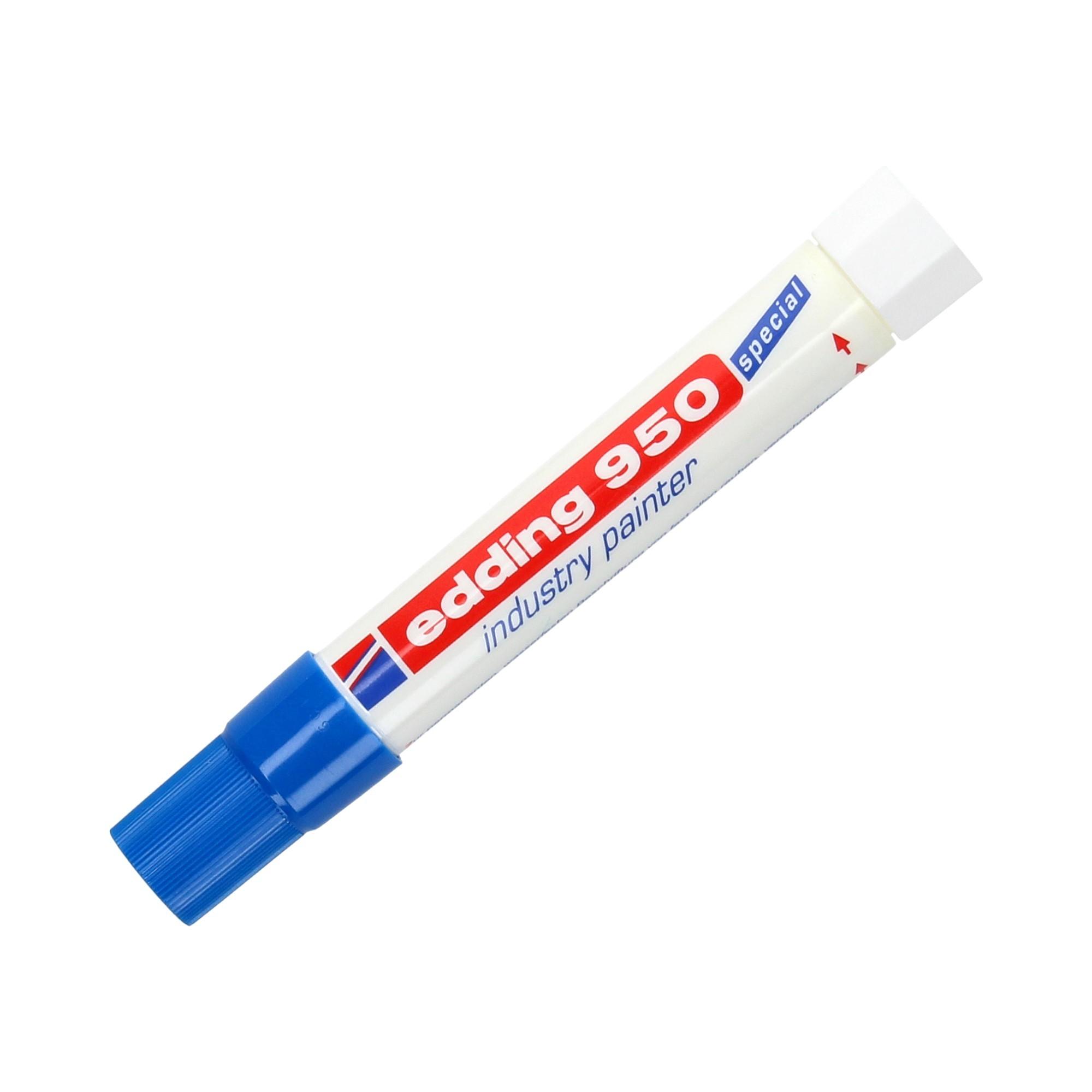 Marker przemysłowy 10.0mm niebieski okrągły Edding 950