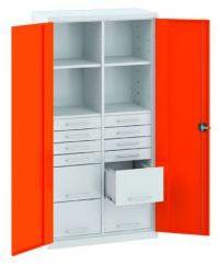 Szafa warsztatowa metalowa 4 półki 12 szuflad SL 163.18 MALOW