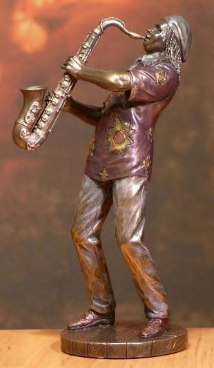 Statuetka Jazzowa Saksofonista