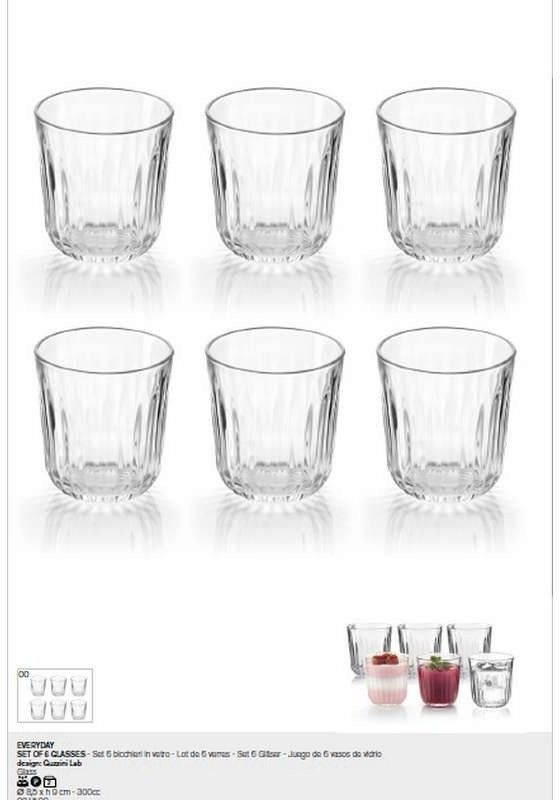 Guzzini - gocce - kpl. 6 szklanek everyday