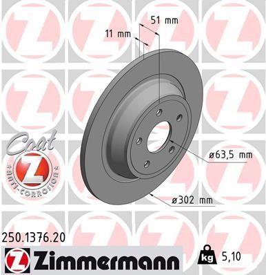 tarcze hamulcowe Ford Mondeo Mk5 - tył - Zimmermann