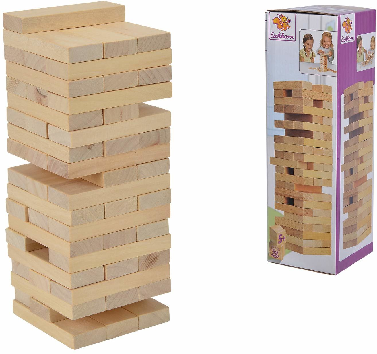 Simba 100002466 Eh Chwiejąca Się Wieża 100002466 ,brązowy